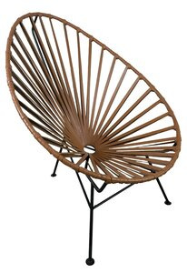 Brown Leather Woven Chair rental Houston, TX