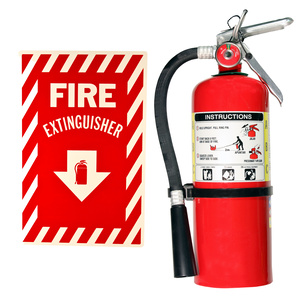 Fire Extinguisher with Sign rental Houston, TX