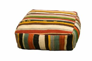 Multi Striped Floor Cushion rental Houston, TX