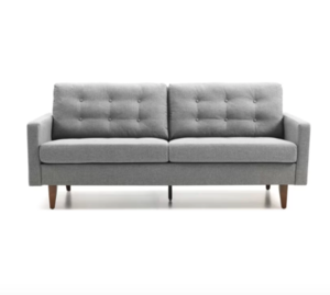 Gray Midcentury Modern Loveseat rental Houston, TX