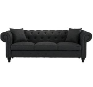 Gray Tufted Sofa rental Houston, TX