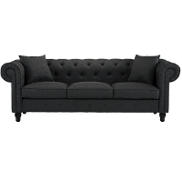 Gray Tufted Sofa rental Houston, TX