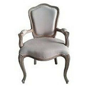 French Country Wood Arm Chair rental Houston, TX