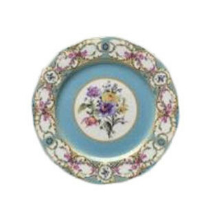Floral Vintage Blue Dinner Plate  rental Houston, TX