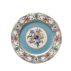 Floral Vintage Blue Dinner Plate  rental Houston, TX