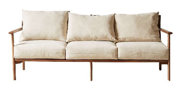 Relaxed Mid-Century Modern Sofa rental Houston, TX