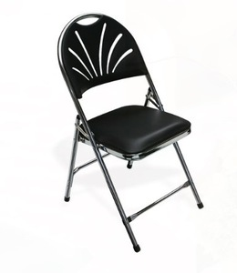 Black Folding Padded Chair (Indoor Only) rental Houston, TX