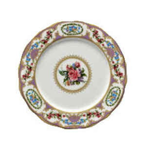 Floral Vintage Purple Dinner Plate rental Houston, TX