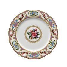 Floral Vintage Purple Dinner Plate rental Houston, TX