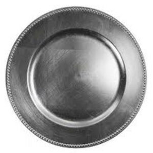 """Silver Acrylic Charger Plate 13"""" rental Houston, TX"""