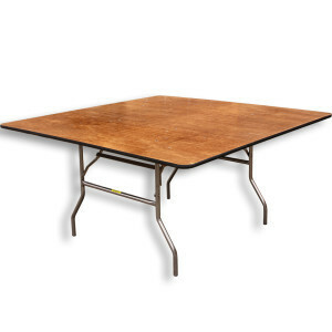 "60"" Square Table rental Houston, TX"