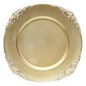"""Vintage Acrylic Charger Plate 13"""" rental Houston, TX"""