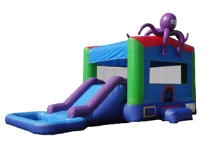 Combo Dry or Water Slide - Octopus rental Houston, TX