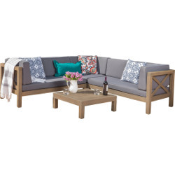 Outdoor Sectional Sofa & Coffee Table rental Houston, TX