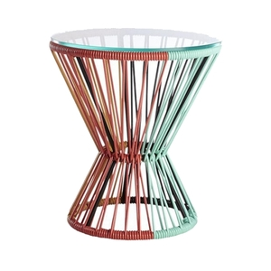 Multicolored PVC Cord Side Table rental Houston, TX
