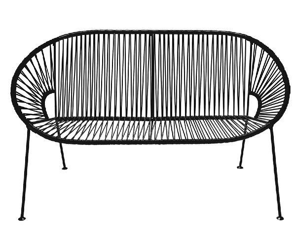 Black PVC Cord Loveseat rental Houston, TX