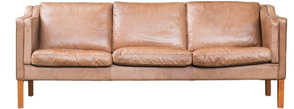Brown Leather Sofa rental Houston, TX