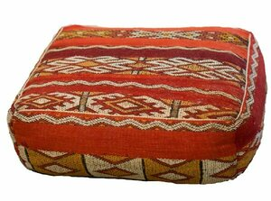 Red Patterned Floor Cushion rental Houston, TX