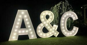 Giant Lighted 8' Marquee Letter rental Houston, TX