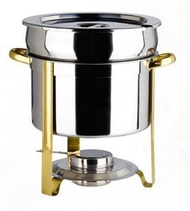 Brass Trim Marmite 5 QT Chafing Dish rental Houston, TX