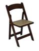 Fruitwood Folding Chair rental Houston, TX