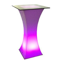 Lighted LED Cocktail Table rental Houston, TX