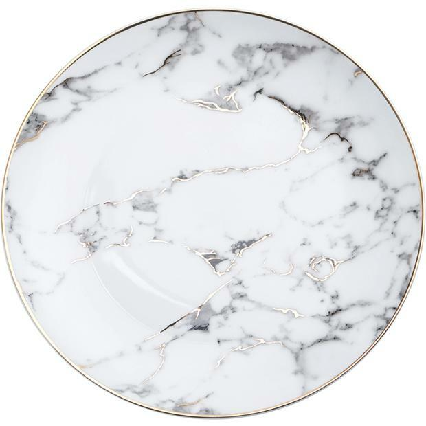 Marble Gold Rim Salad Plate rental Houston, TX