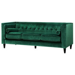 Emerald Velvet Sofa rental Houston, TX