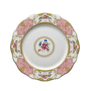 Floral Vintage Pink Dinner Plate rental Houston, TX