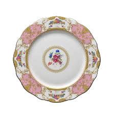 Floral Vintage Pink Dinner Plate rental Houston, TX