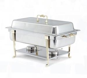 Brass Trim 8 QT Chafing Dish rental Houston, TX