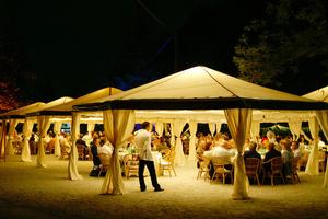 20 x 20 White Frame Tent rental Houston, TX