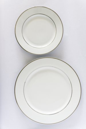 Silver Rim Dinner Plates rental Houston, TX