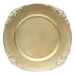 """Vintage Acrylic Charger Plate 13"""" rental Dallas-Ft. Worth, TX"""