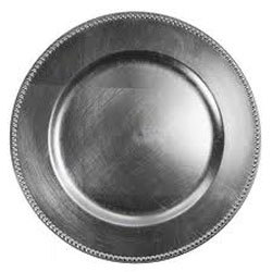 """Silver Acrylic Charger Plate 13"""" rental Dallas-Ft. Worth, TX"""