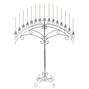 Silver Fan 15 Light Candelabra rental Dallas-Ft. Worth, TX