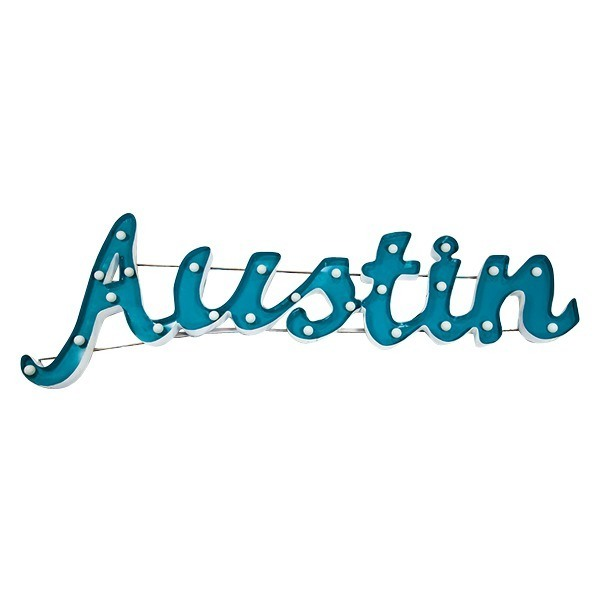 Lighted Austin Sign rental Dallas-Ft. Worth, TX