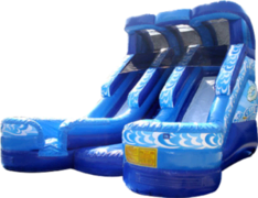 19' Double Dry or Water Slide rental Dallas-Ft. Worth, TX
