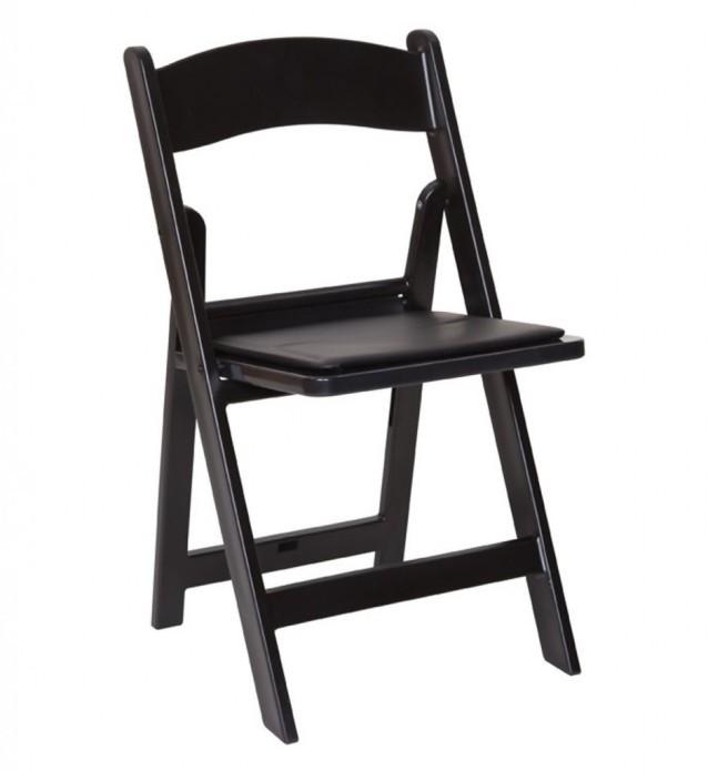 Black Padded Folding Chair rental Dallas-Ft. Worth, TX