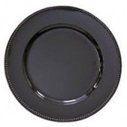 """Black Acrylic Charger Plate 13"""" rental Dallas-Ft. Worth, TX"""