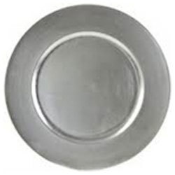 """Silver Acrylic Charger 13"""" rental Dallas-Ft. Worth, TX"""