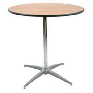 "36"" Round Highboy Cocktail Table rental Dallas-Ft. Worth, TX"