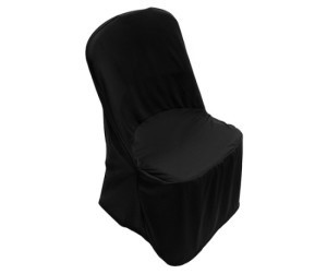 Black Poly Chair Cover rental Dallas-Ft. Worth, TX