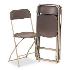 Brown Folding Chair rental Dallas-Ft. Worth, TX