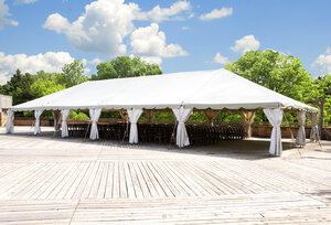 40 x 60 White Frame Tent rental Dallas-Ft. Worth, TX