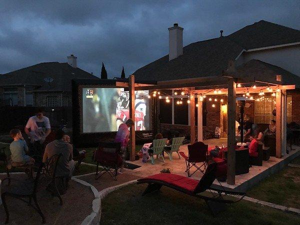18' Backyard Movie Package rental Dallas-Ft. Worth, TX