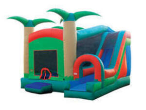 Tropical Bouncy House Combo rental Dallas-Ft. Worth, TX