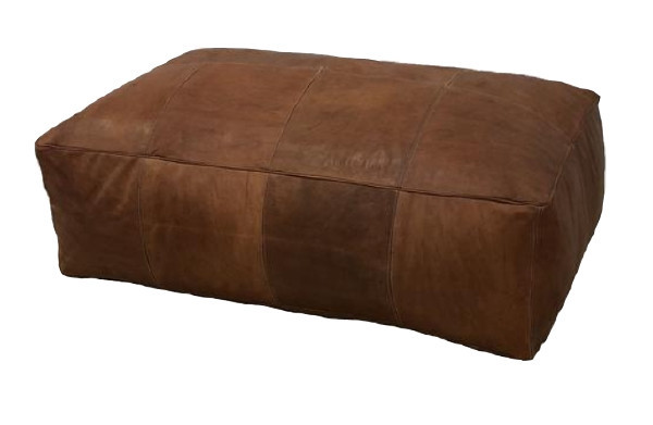 Rectangular Leather Ottoman rental Los Angeles, CA