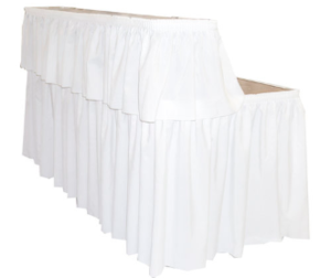 8' Tabletop Bar with Skirting rental Los Angeles, CA