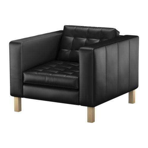 Black Tufted Leather Chair rental Los Angeles, CA